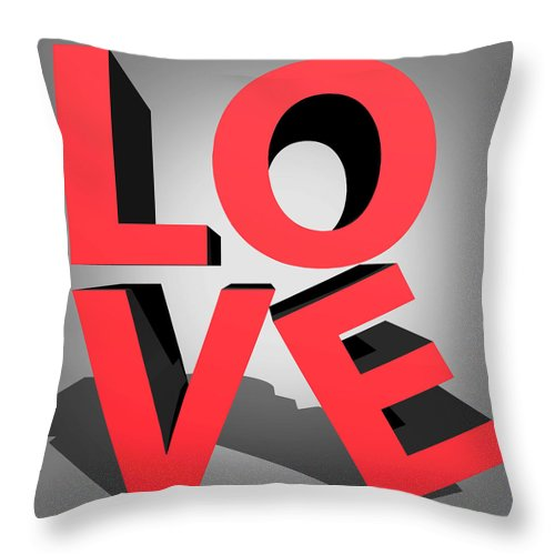 Love Throw Pillow featuring the digital art Love 2 by Mark Ashkenazi