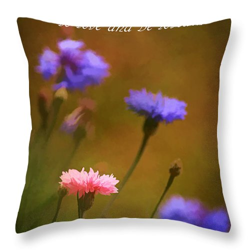 Agriculture Throw Pillow featuring the photograph Love And Be Loved by Darren Fisher