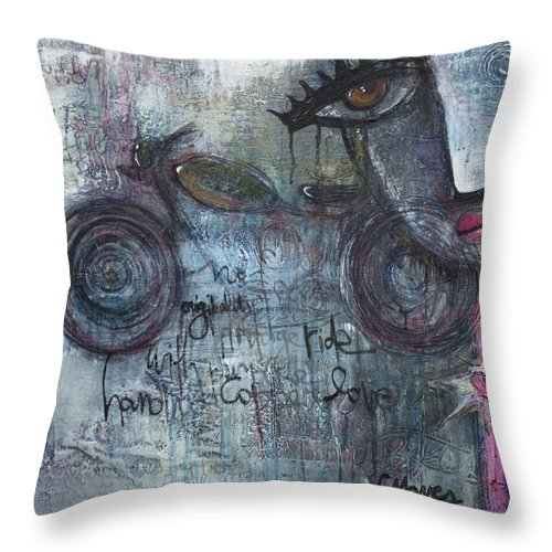 Motorcycle Throw Pillow featuring the painting Love For Motorcycles by Laurie Maves ART