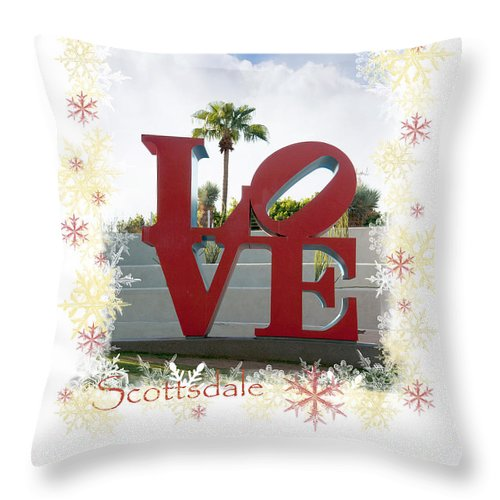 Scottsdale Throw Pillow featuring the photograph Put A Little Love In Your Heart by Brenda Kean