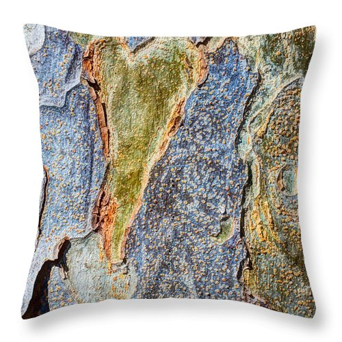 Tree Throw Pillow featuring the photograph Love In The Abstract by Heidi Smith