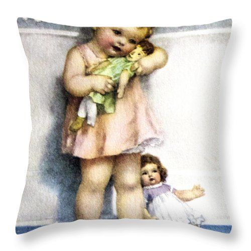 Bessie Pease Gutmann Throw Pillow featuring the digital art Love Is Blind by Bessie Pease Gutmann