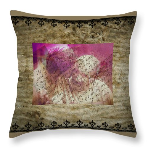 Love Throw Pillow featuring the digital art Love Is Forever by Absinthe Art By Michelle LeAnn Scott