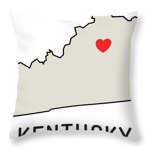 Design Element Throw Pillow featuring the digital art Love Kentucky State by Chokkicx