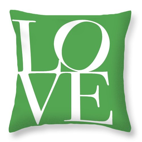 Love On Green Throw Pillow featuring the digital art Love On Green by Dan Sproul