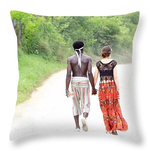 Love Throw Pillow featuring the photograph Love Peace Light Rw2k14 by PJQandFriends Photography