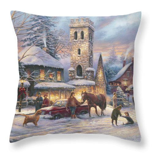 Fine Art Investment Throw Pillow featuring the painting Love Runs Deep by Chuck Pinson