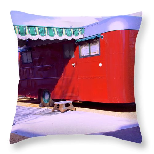 Love Shack Throw Pillow featuring the photograph Love Shack Palm Springs by William Dey