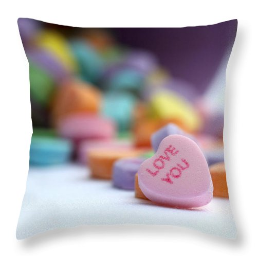 Valentines Day Throw Pillow featuring the photograph Love You by Diana Haronis