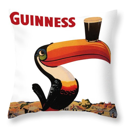 Lovely Day For A Guinness Throw Pillow featuring the digital art Lovely Day for a Guinness by Georgia Fowler