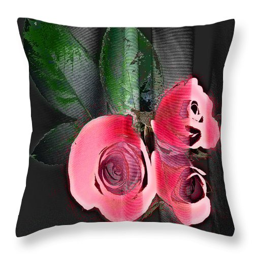 Digital Image Throw Pillow featuring the digital art Lovely by Yael VanGruber
