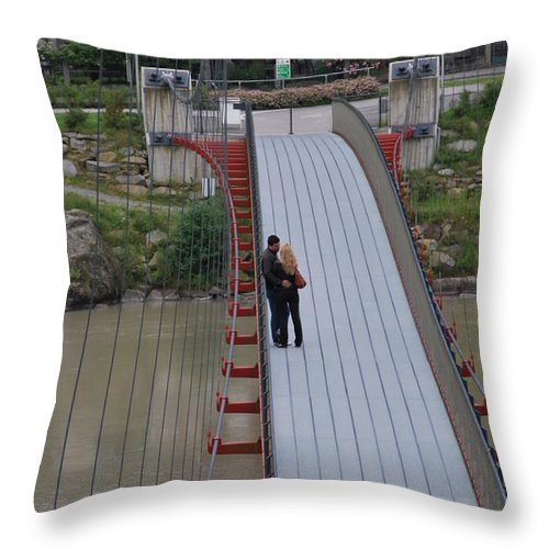 Love Throw Pillow featuring the photograph Lovers Between Countries by Richard Booth