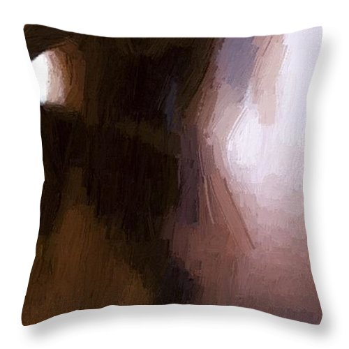 Dark Throw Pillow featuring the painting Lovers by Steve K