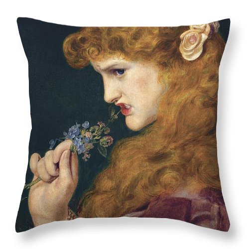 Frederick Sandys Throw Pillow featuring the painting Loves Shadow by Frederick Sandys
