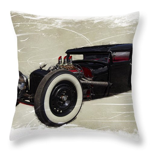 Car Show Throw Pillow featuring the photograph Low Boy V2.0 by Jorge Perez - BlueBeardImagery