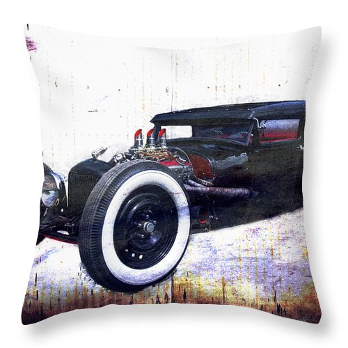 Car Show Throw Pillow featuring the photograph Low Boy V3.0 by Jorge Perez - BlueBeardImagery