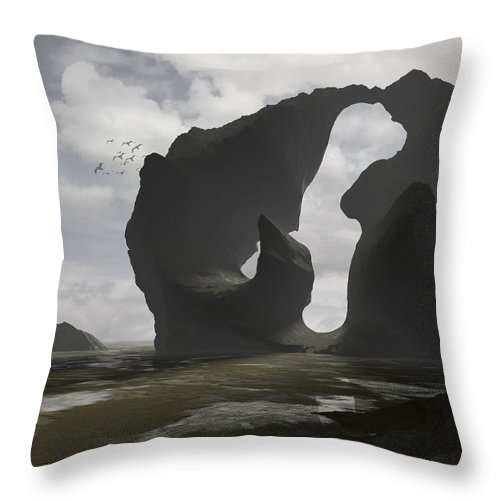 Ocean Throw Pillow featuring the digital art Low Tide by Cynthia Decker