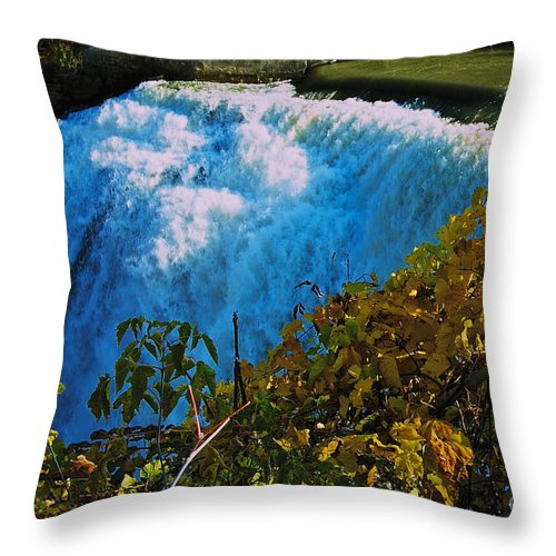 Lower Falls Throw Pillow featuring the photograph Lower Falls by William Norton