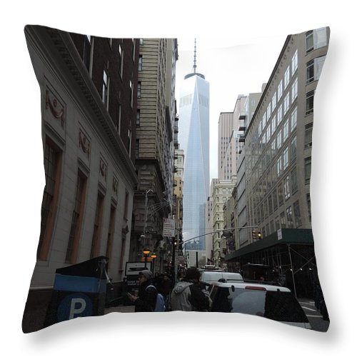World Trade Center Throw Pillow featuring the photograph Lower Manhattan And The New World Trade Center by Doug Swanson