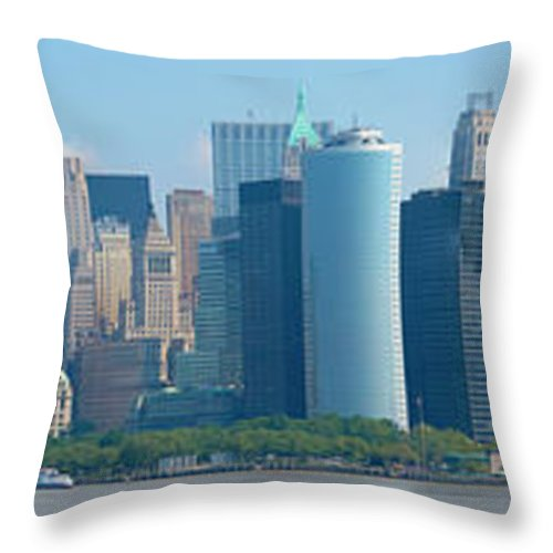 New York City Throw Pillow featuring the photograph Lower Manhattan by Douglas J Fisher
