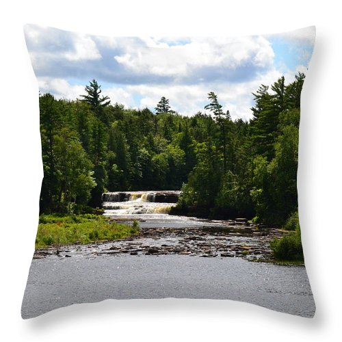 Rivers Throw Pillow featuring the photograph Lower Tahquamenon Falls L by Michelle Calkins