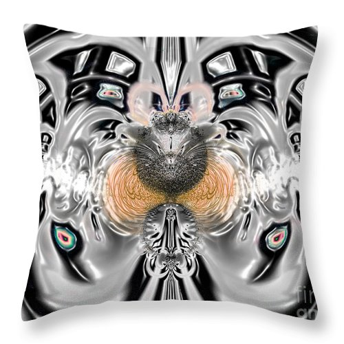 2-dimensional Throw Pillow featuring the digital art Love N Hate On A Date by Dana Haynes