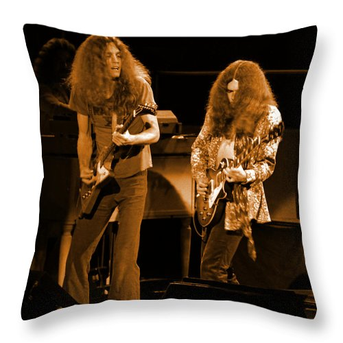 Lynyrd Skynyrd Throw Pillow featuring the photograph Ls Spo #21 Crop 4 In Amber by Ben Upham