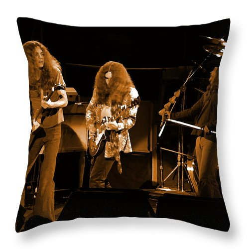 Lynyrd Skynyrd Throw Pillow featuring the photograph Ls Spo #21 In Amber by Ben Upham
