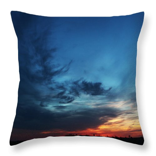 Sunset Throw Pillow featuring the photograph Lullaby by Christine Johnson