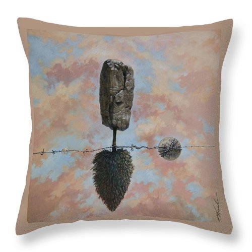 Trees Throw Pillow featuring the painting Lunar Entanglements by William Stoneham