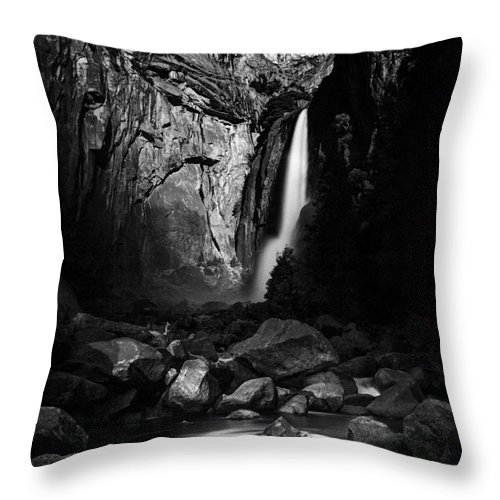 Yosemite Throw Pillow featuring the photograph Lunar Glow by Anthony Bonafede