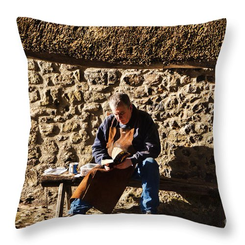 Lunch Throw Pillow featuring the photograph Lunch Break At The Forge by Susie Peek
