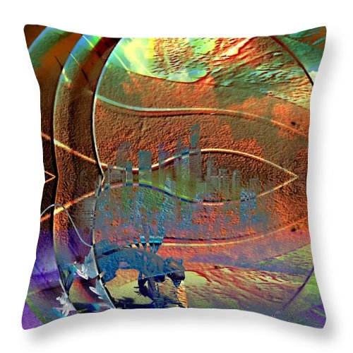 Lurking Throw Pillow featuring the digital art Lurking by D Preble
