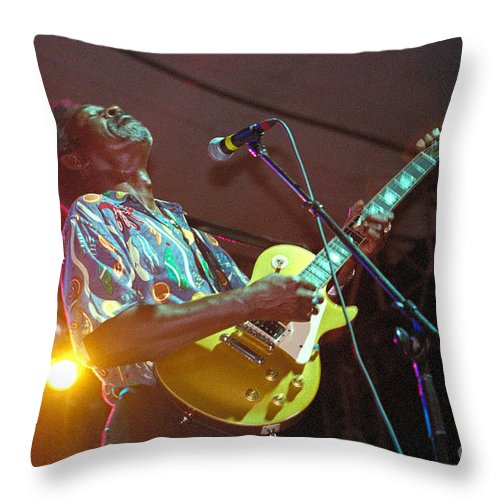 Luther Allison Throw Pillow featuring the photograph Luther Allison-1 by Gary Gingrich Galleries