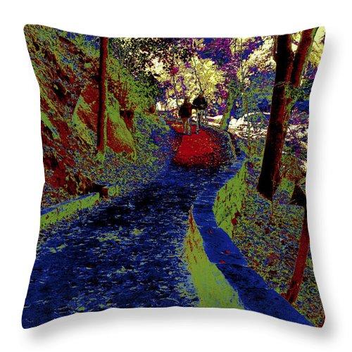 Landscape Throw Pillow featuring the photograph Luxurious Curve by Nabila Khanam