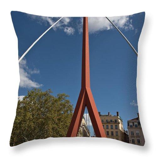 Europe Throw Pillow featuring the photograph Lyon Bridge by Oleg Koryagin
