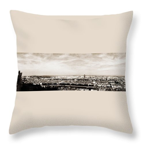 Lyon Throw Pillow featuring the photograph Lyon From The Basilique De Fourviere by Paulette B Wright