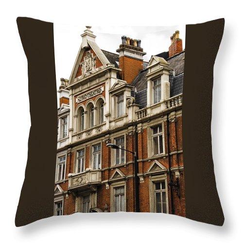 British Throw Pillow featuring the photograph Lyric Theatre by Christi Kraft