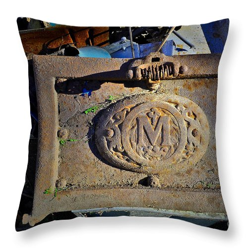 M Throw Pillow featuring the photograph M For ... by Gwyn Newcombe