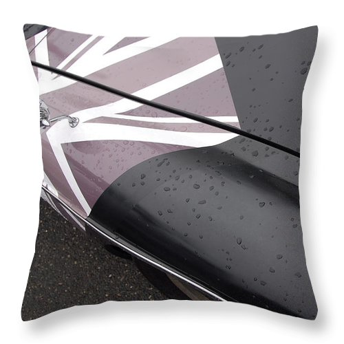 Automobiles Throw Pillow featuring the photograph M G B Graphic by John Schneider