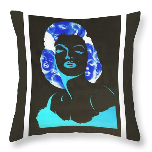 Marilyn Monroe Throw Pillow featuring the photograph M M I N N E G A T I V E O R I G I N A L by Rob Hans