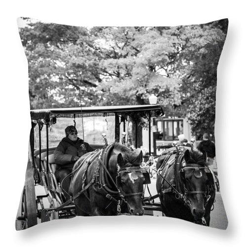 Mackinac Island Throw Pillow featuring the photograph Mackinac Travel by Sheri Bartoszek