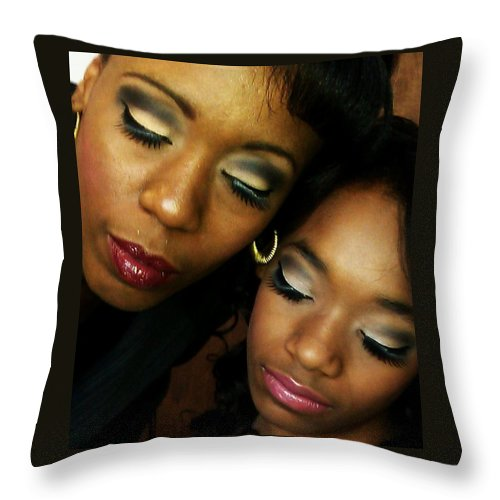 Make Up Throw Pillow featuring the photograph Made Up by Love Reyes