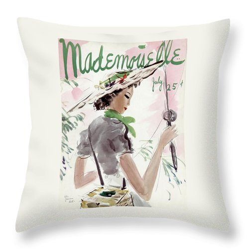 Mademoiselle Cover Featuring A Woman Holding Throw Pillow