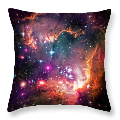 Universe Throw Pillow featuring the photograph Magellanic Cloud 2 by Jennifer Rondinelli Reilly - Fine Art Photography