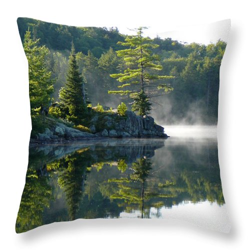 Maggie Lake Throw Pillow featuring the photograph Maggie Lake 1 by Chris Sotiriadis
