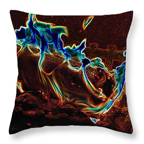 First Star Art Throw Pillow featuring the photograph Magical Fire by First Star Art