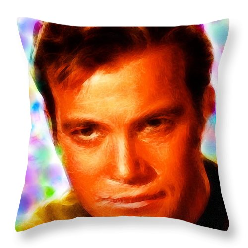 Kirk Throw Pillow featuring the painting Magical Kirk by Paul Van Scott