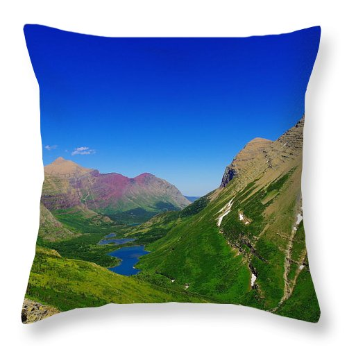 Lakes Throw Pillow featuring the photograph Magical Montana by Jeff Swan