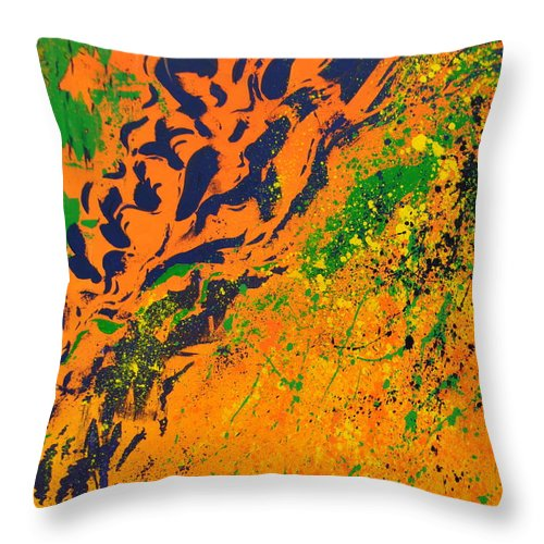 Modern Throw Pillow featuring the painting Magnetic Sequence by Amanda Van Hoesen